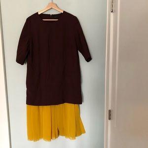 COS Dresses - COS Midi Dress Tunic with Pleated Hem